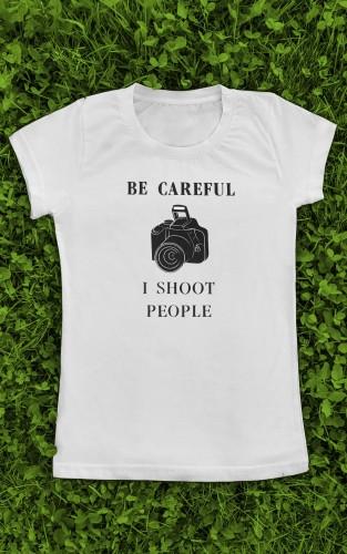 """Marškinėliai su užrašu """"I Shoot People"""""""