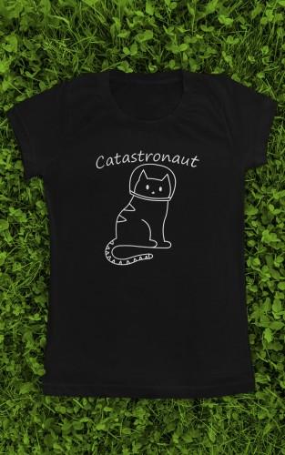 """Marškinėliai su užrašu """"Catostronaut"""""""