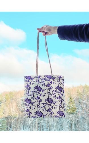 """Drobinis maišelis iš lino """"Gėlėtas sapnas"""""""